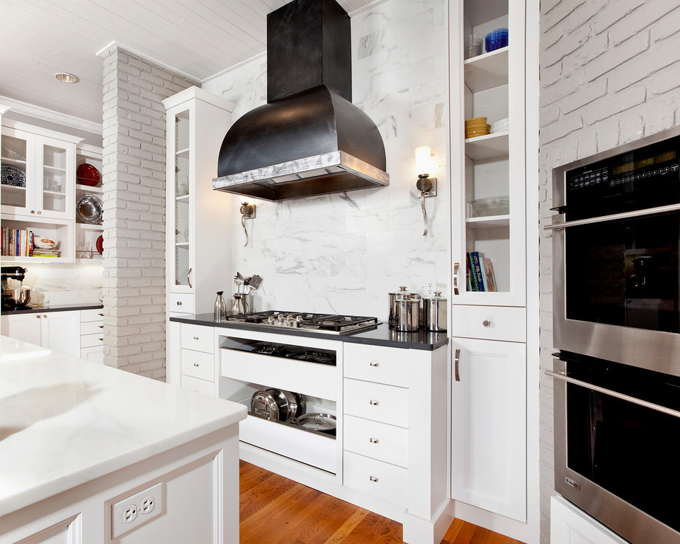Existing conditions in this remodel dictated much of the design layout.