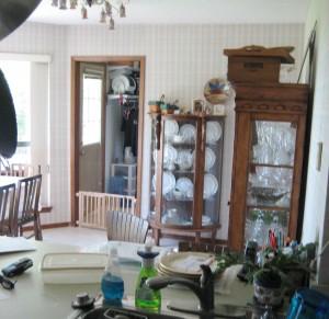 View towards laundry door