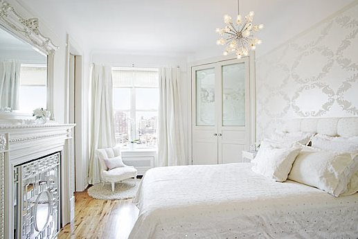 coco cozy white bedroom - All White Bedroom Decorating Ideas