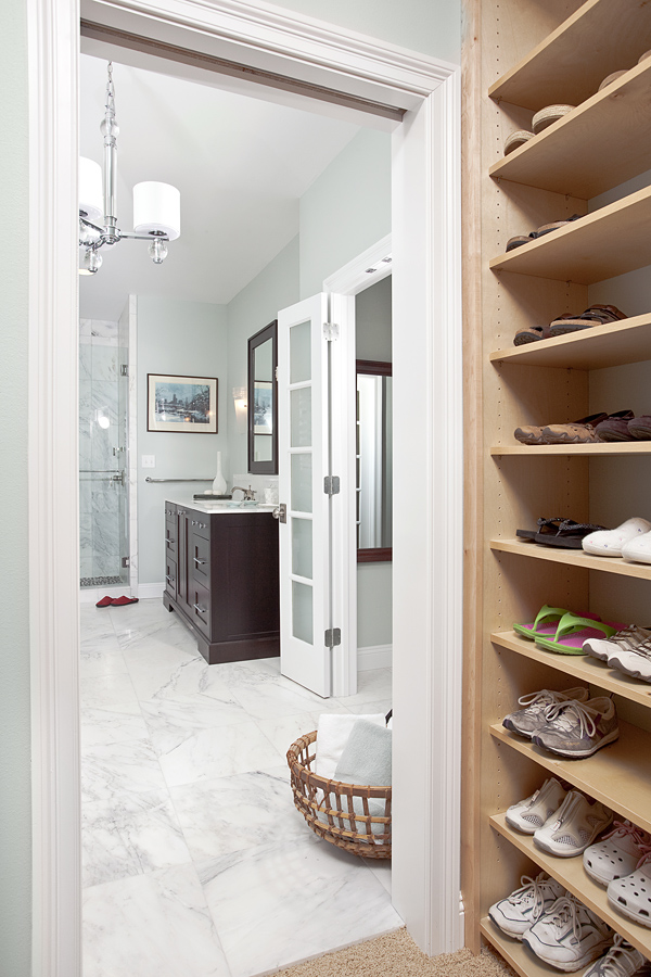 Master bath combo suite in detail interiors for Closet bathroom suites