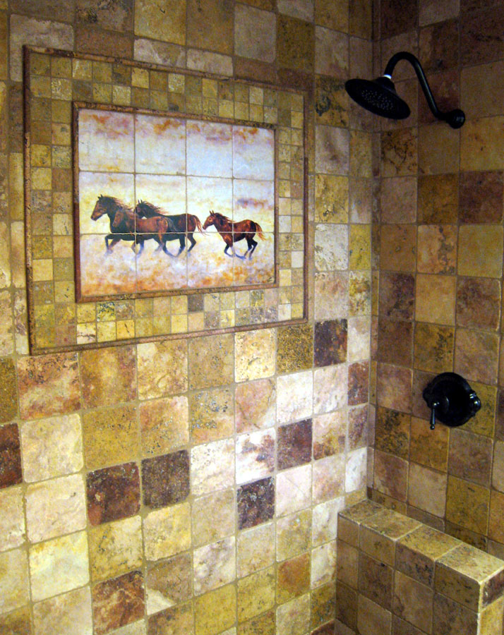 lets put the wild horses back in the barn where they belong - Bathroom Shower Tile Designs Photos