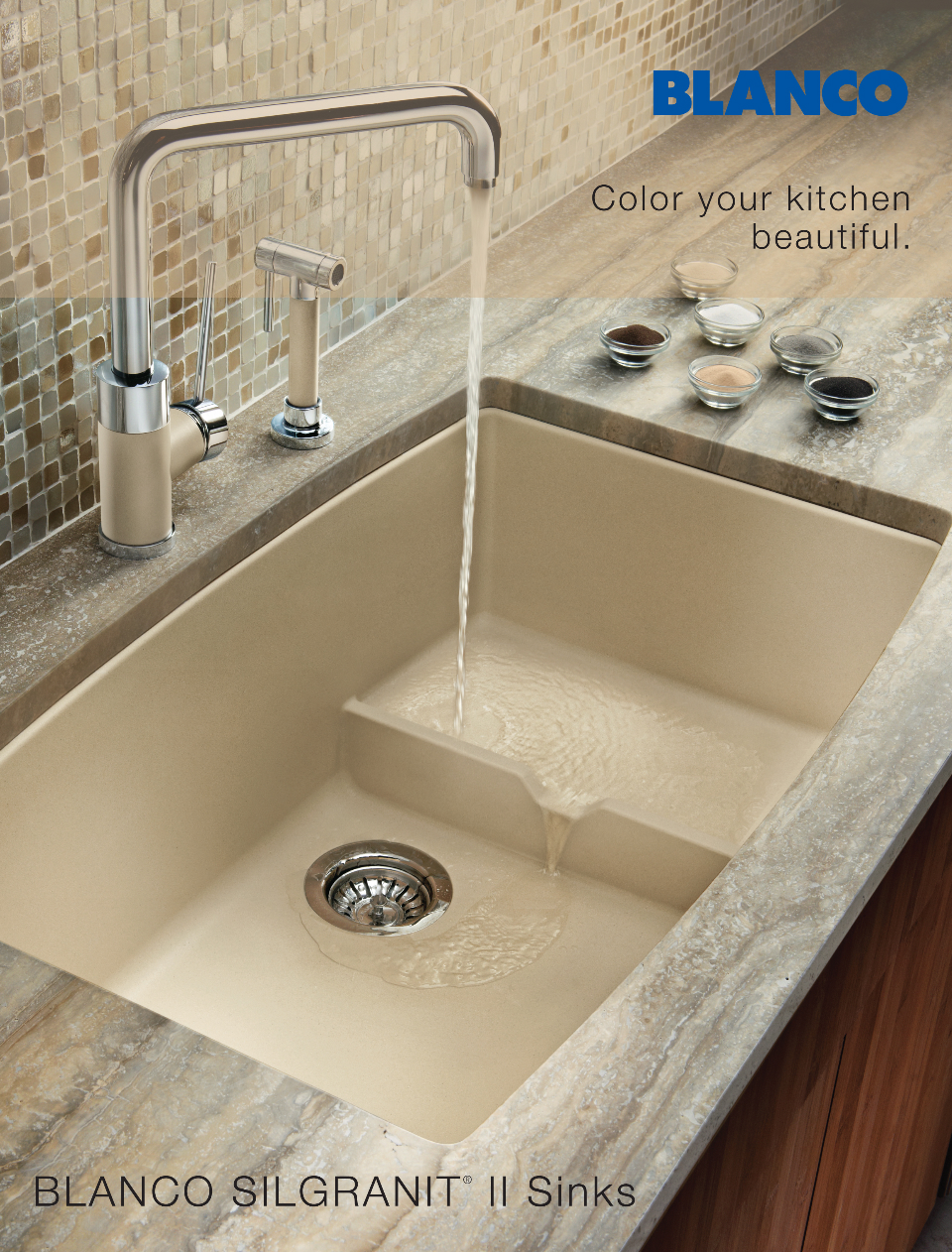 Pretty much the best sink ever in detail interiors for Silgranit countertops
