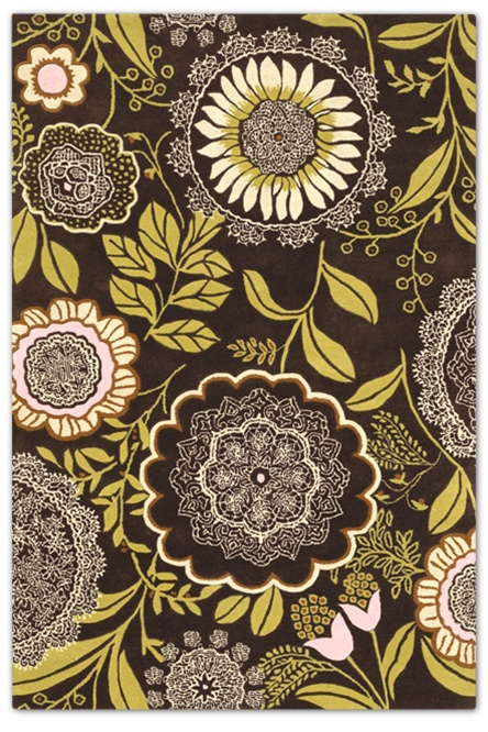 bold earthy chandra rug brown floral