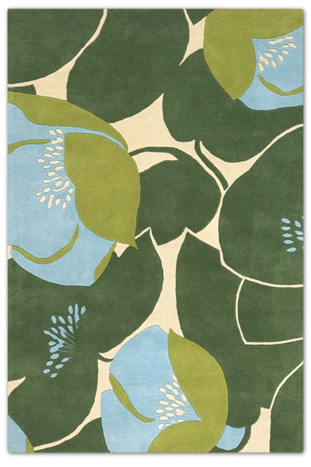 bold earthy floral color chandra rug blue greens
