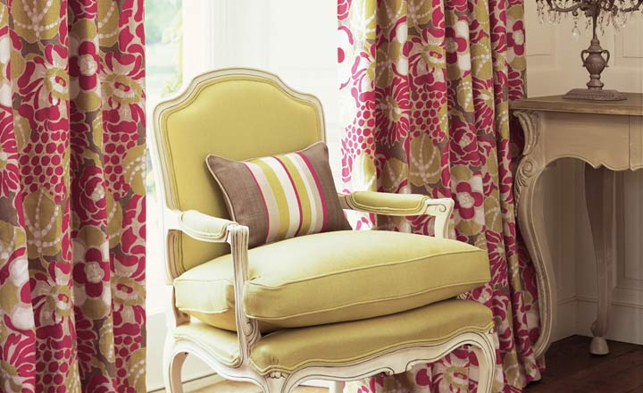 Romo fabric for chair and curtains