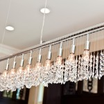 crystal hanging with polished nickel bar