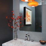 Colorful Powder Bath: Gabberone Remodel