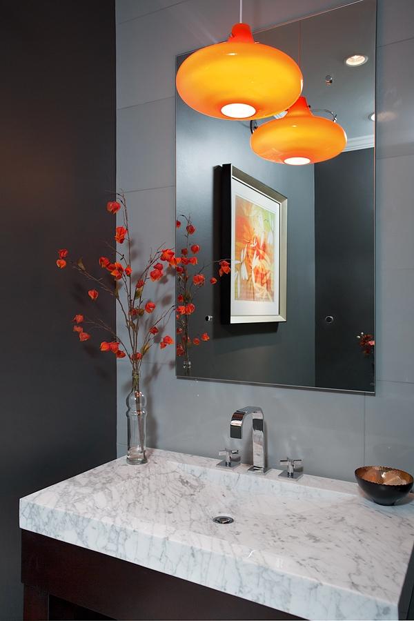 Colorful Powder Bath: Gabberone Remodel