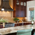 Traditional kitchen remodel, cold rolled steel hood, granite counters, knotty cherry cabinetry
