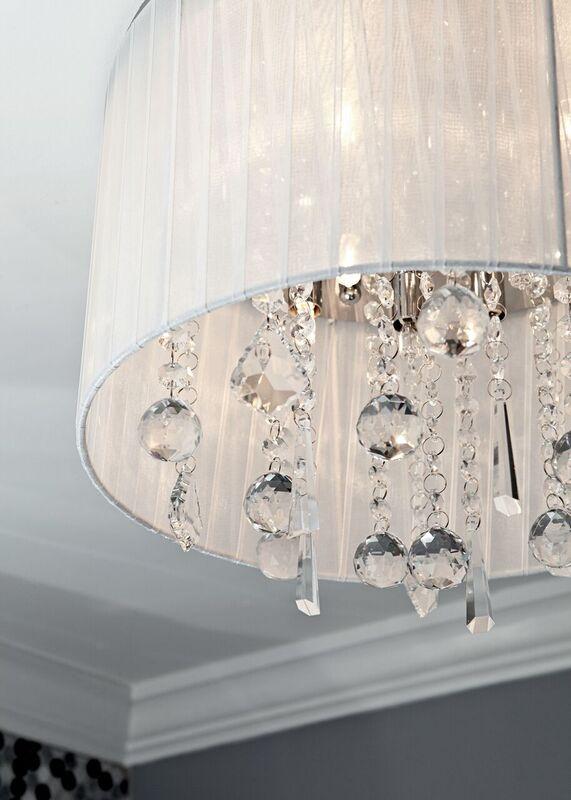 Girl's bathroom remodel: chandelier, light fixture