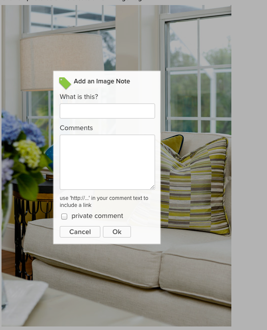 """click on photo. The image tag is what you want to use if do not have a """"shop"""" on Houzz."""