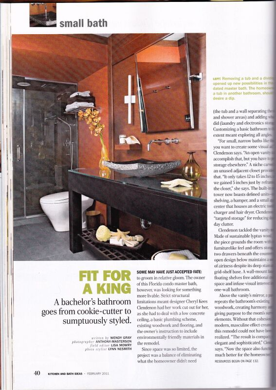 Asian influenced master bath featured in Better Homes and Gardens Kitchen and Bath Ideas: Condo Remodel on the Beach