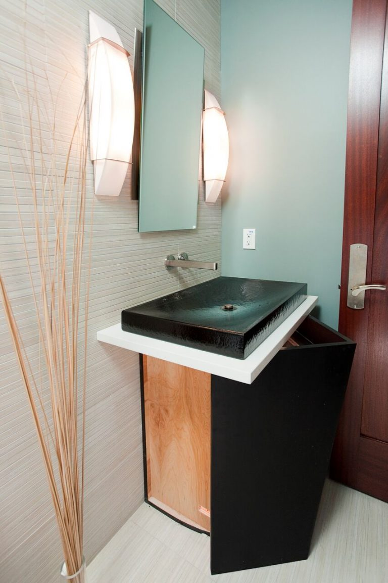 Coastal new construction guest bath vanity