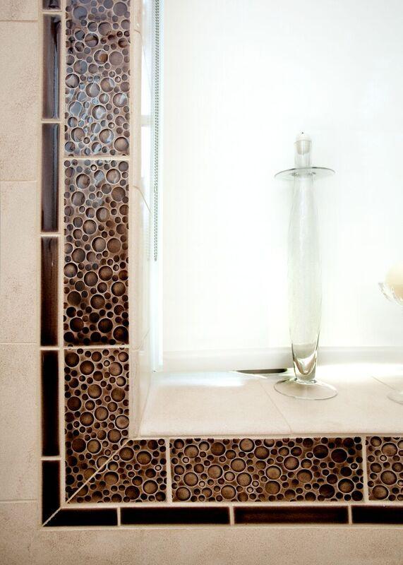 Guest Bathroom: Bayou New Construction: Shower window