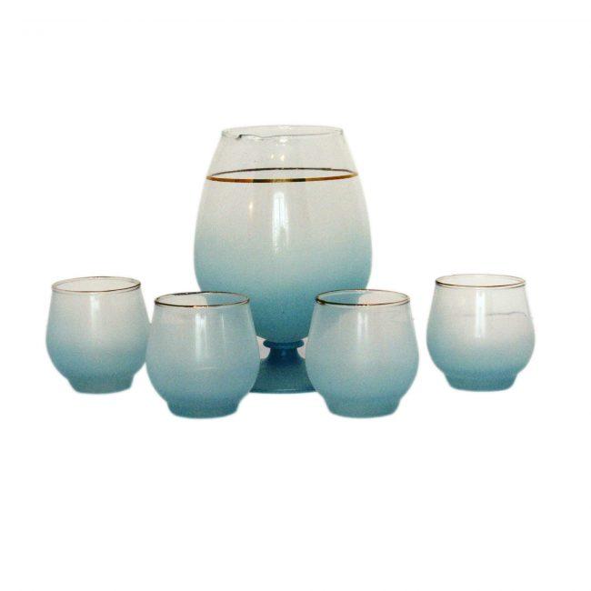 blendo pitcher set blue