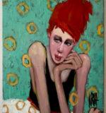 Artwork - Original 24 x 18 Painting on Canvas nancy rhodes harper