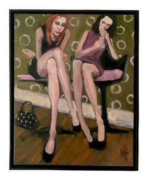 Artwork - Original 21 x 17 Painting on Canvas nancy rhodes harper