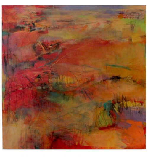 Artwork - Original 36 x 26 Painting on Canvas susan lucas