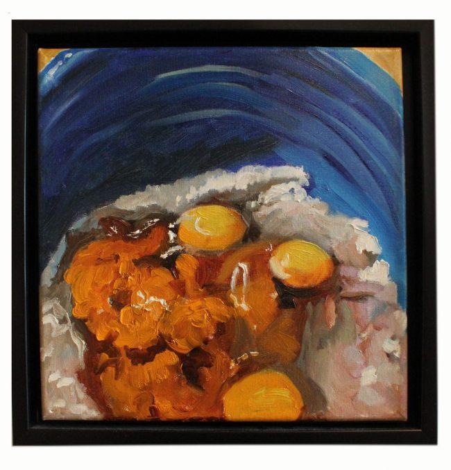 Artwork, original Painting making pumpkin bread