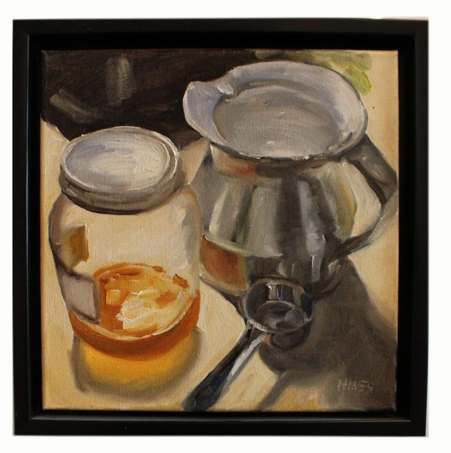 Artwork, Original Painting tea and honey