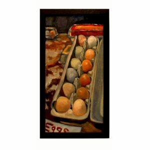 Artwork, original painting eggs
