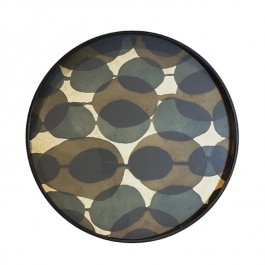 Tray - Connected Dots Round Mirror notre monde