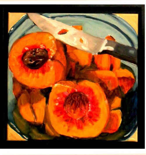 Artwork, original art peaches