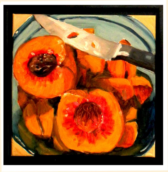 Artwork, original art peaches