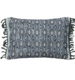 blue & white lumbar pillow