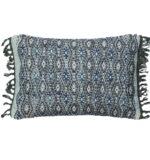 blue & white lumbar pillow
