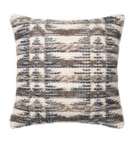 woven beige brown & navy throw pillow