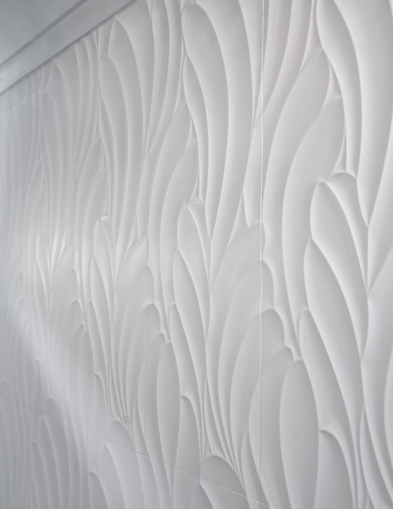 small powder bath wall tile, large format wall tile, white porcelain wall tile