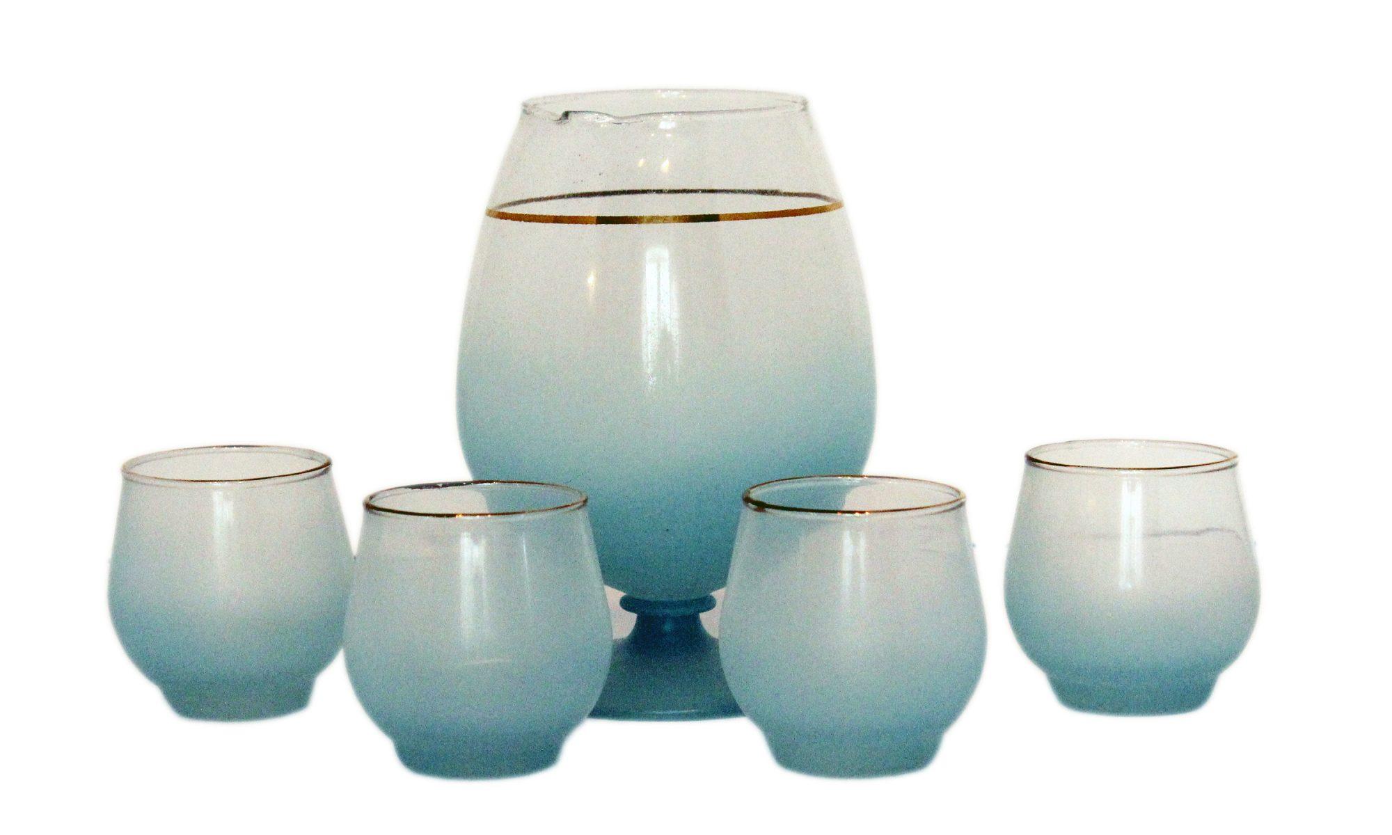 blue blendo ombre vintage bar ware