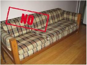 ugly plaid sofa
