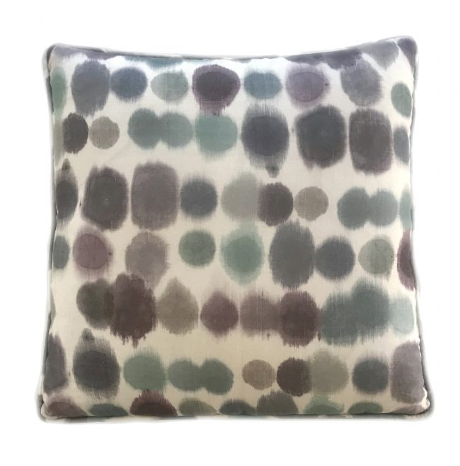 Throw pillow, Watercolor spot print, teal, purple