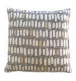 Grey, White & yellow pillow , custom fabric