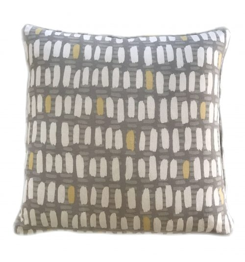 Grey, White & yellow pillow , custom fabric