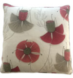 pink & white floral pillow