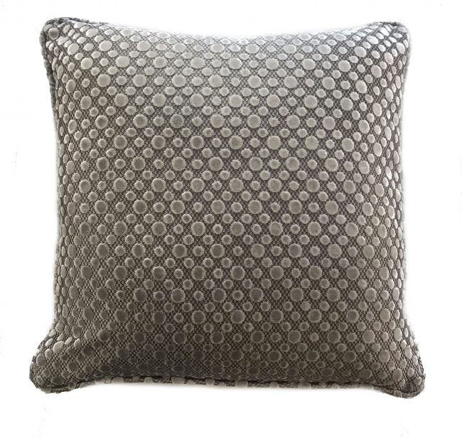 grey two-tone spotted pillow