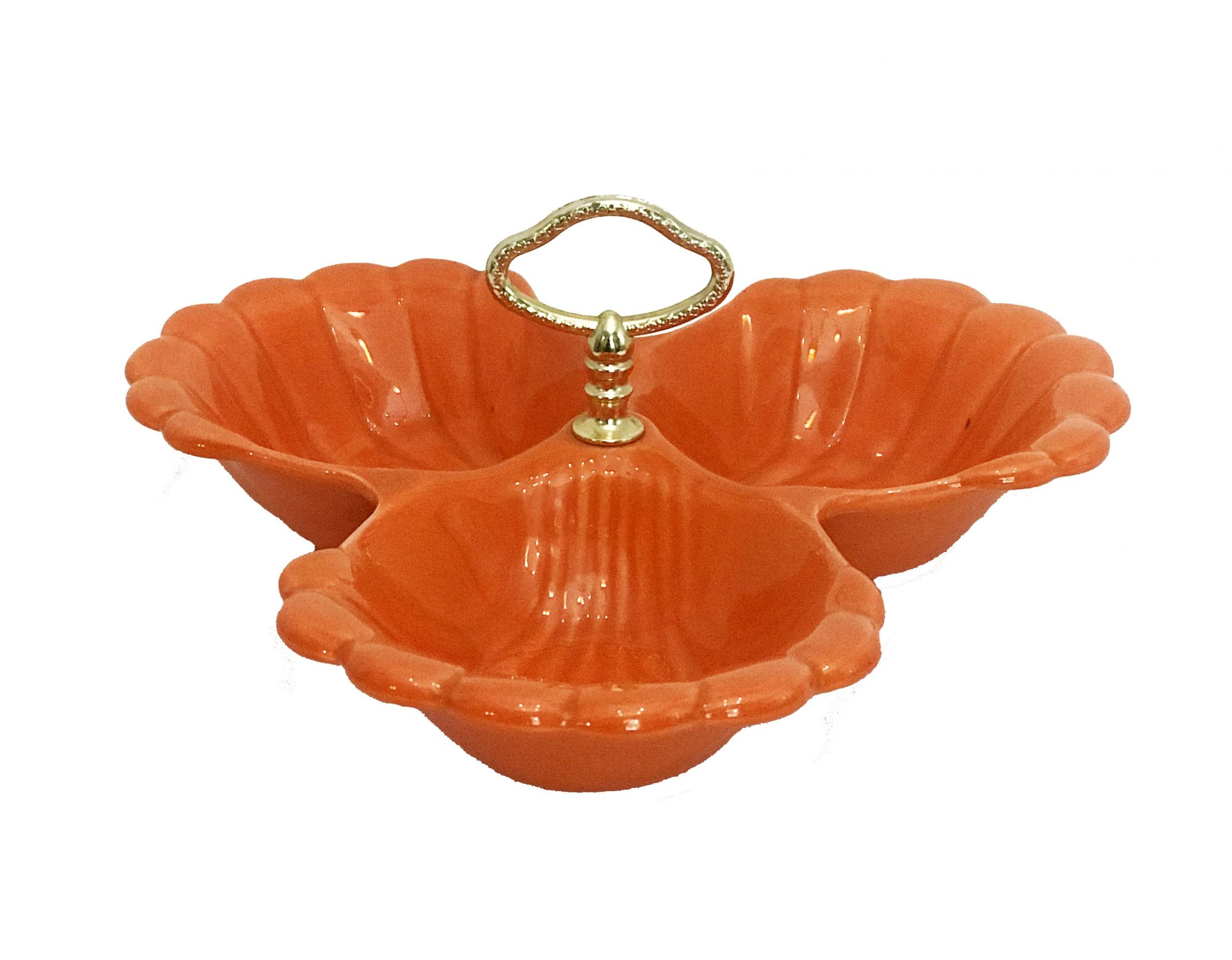 3-compartment-clam-shell-serving-dish-orange