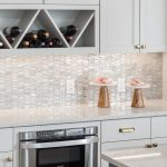 mosaic natural backsplash neutral colors
