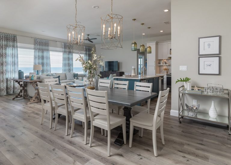 Coastal dining room design pensacola florida - neutral colors