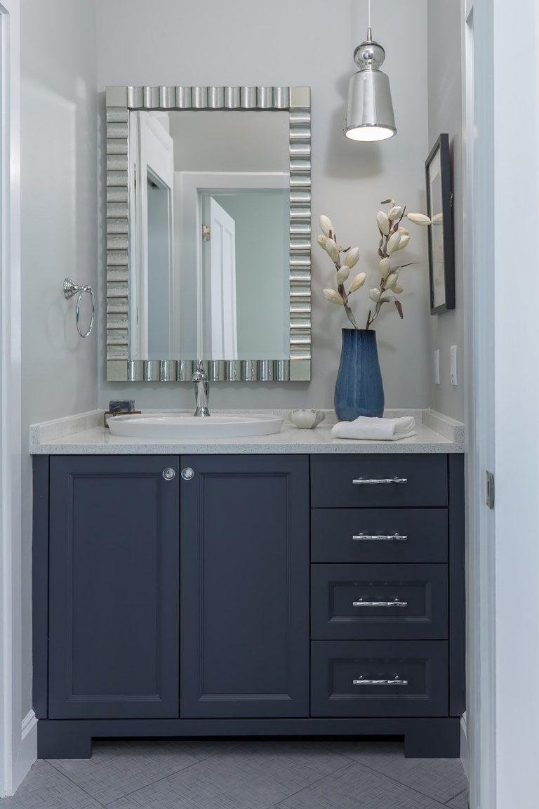 coastal bathroom design blue and white pensacola florida