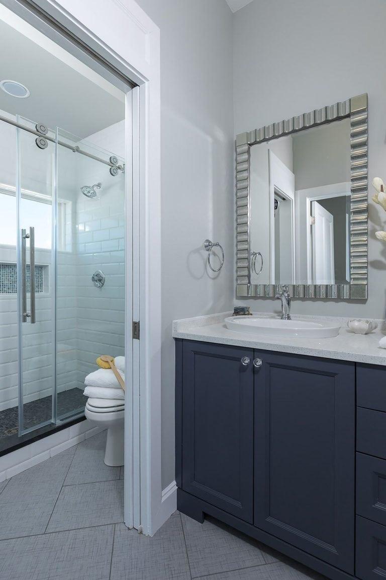 tile shower sliding door