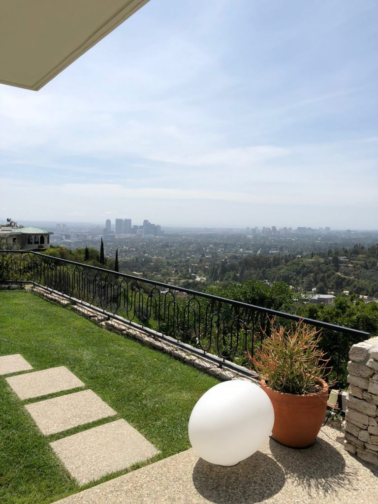 gorgeous view of Los Angeles at Casa Perfect