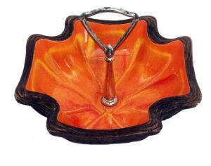 Vintage-Orange-glazed-ash-tray