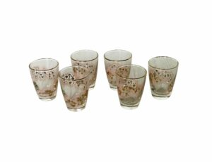 vintage tumblers glass set