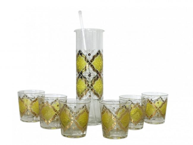 pasinski bar set yellow & gold