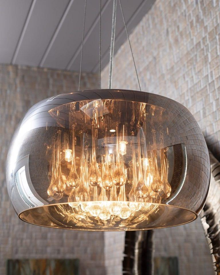 lighting in bath off center