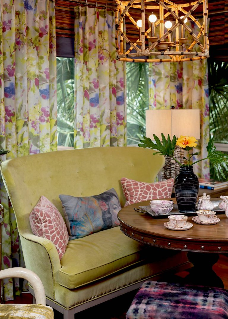 settee in dining banquette